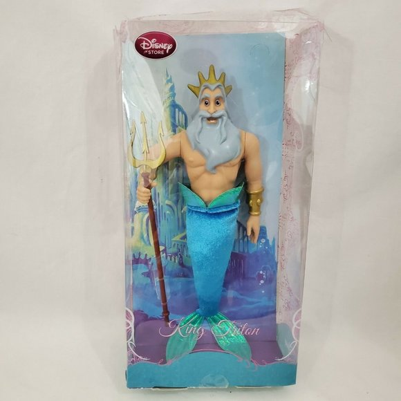 RARE King Triton Doll Toy Disney Little  Mermaid